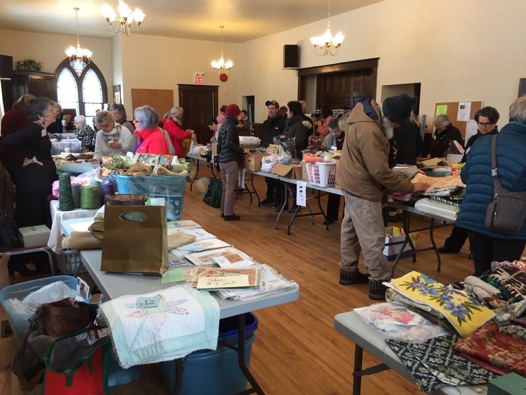 Shoppers at the stash sale and give-away. March 11th, 2017